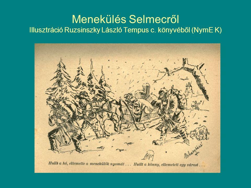 Menekülés Selmecről Illusztráció Ruzsinszky László Tempus c. könyvéből (NymE K)