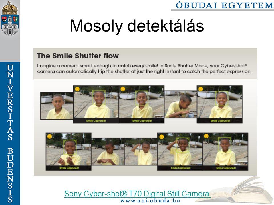 Mosoly detektálás Sony Cyber-shot® T70 Digital Still Camera