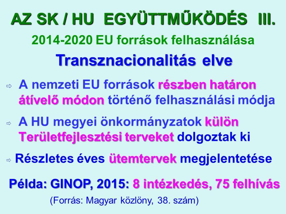 AZ SK / HU EGYÜTTMŰKÖDÉS III.