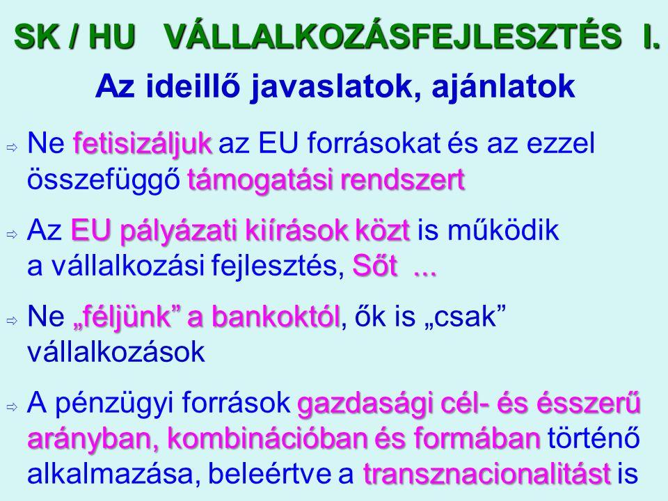 SK / HU VÁLLALKOZÁSFEJLESZTÉS I.