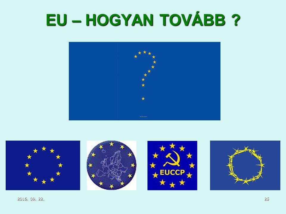 EU – HOGYAN TOVÁBB 2016. 09. 22.2016. 09. 22.2016. 09. 22.25