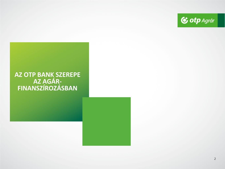 AZ OTP BANK SZEREPE AZ AGÁR- FINANSZÍROZÁSBAN 2