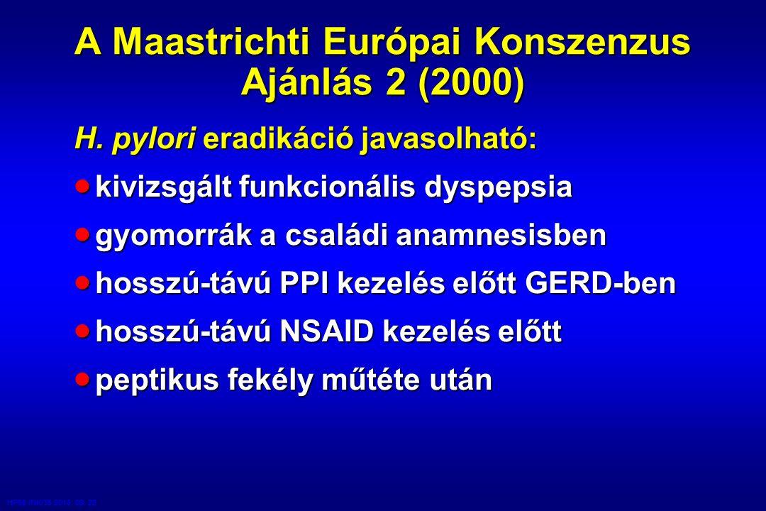 HP98 /NK/35 2016.09. 22. A Maastrichti Európai Konszenzus Ajánlás 2 (2000) H.