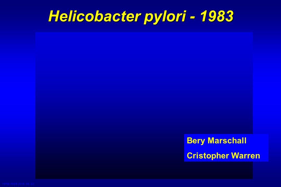 HP98 /NK/5 2016. 09. 22. Helicobacter pylori - 1983 Bery Marschall Cristopher Warren