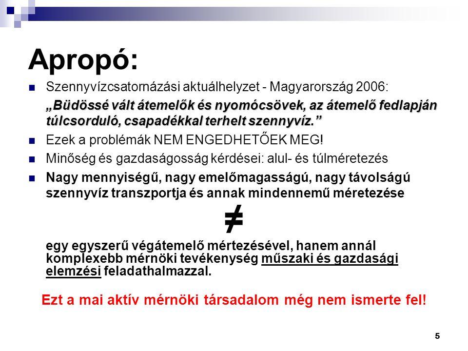 """5 Apropó: Szennyvízcsatornázási aktuálhelyzet - Magyarország 2006: """"Büdössé vált átemelők és nyomócsövek, az átemelő fedlapján túlcsorduló, csapadékkal terhelt szennyvíz. Ezek a problémák NEM ENGEDHETŐEK MEG."""