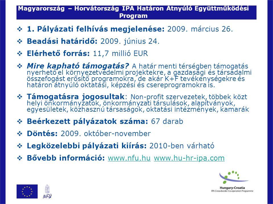 Magyarország – Horvátország IPA Határon Átnyúló Együttműködési Program  1.