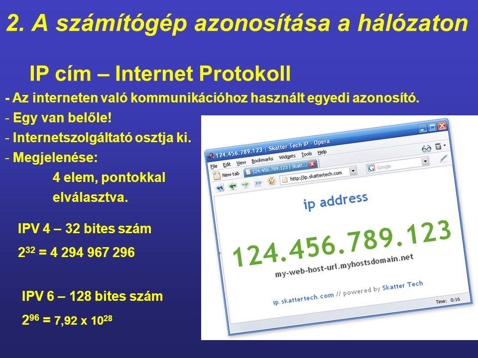 1. Csatlakozás a hálózathoz Végpont A felhasználó számítógépe vezetékes, vagy vezeték nélküli kapcsolattal. ISP végponti azonosítóval látja el a kapcs