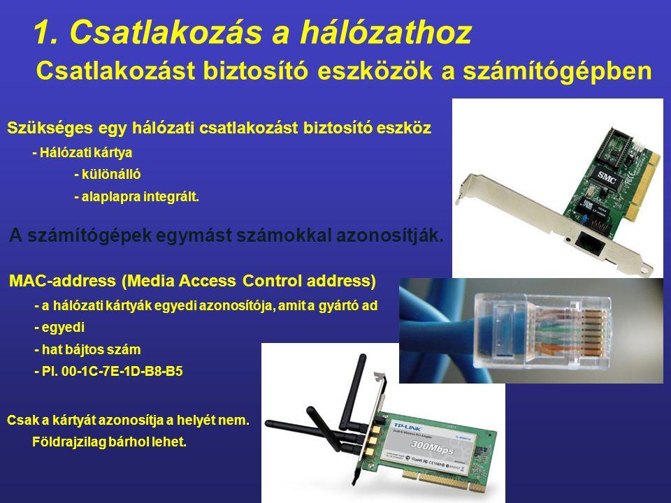 Az adattovábbításhoz szükséges: 1.Csatlakozás a hálózathoz 2.A számítógép azonosítása a hálózaton - hogyan történjen a címzés 3.Adattovábbítás - szabály alkotás a továbbításhoz - hogyan történjen az adattovábbítás - forma - módszer - útvonal 4.Távoli tartalom elérése
