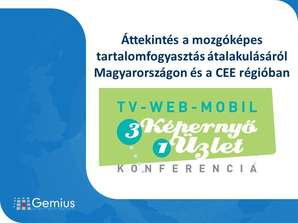Internet penetráció CEE régió Forrás: Gemius – 2010.