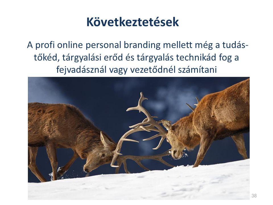 A profi online personal branding mellett még a tudás- tőkéd, tárgyalási erőd és tárgyalás technikád fog a fejvadásznál vagy vezetődnél számítani 38 Következtetések