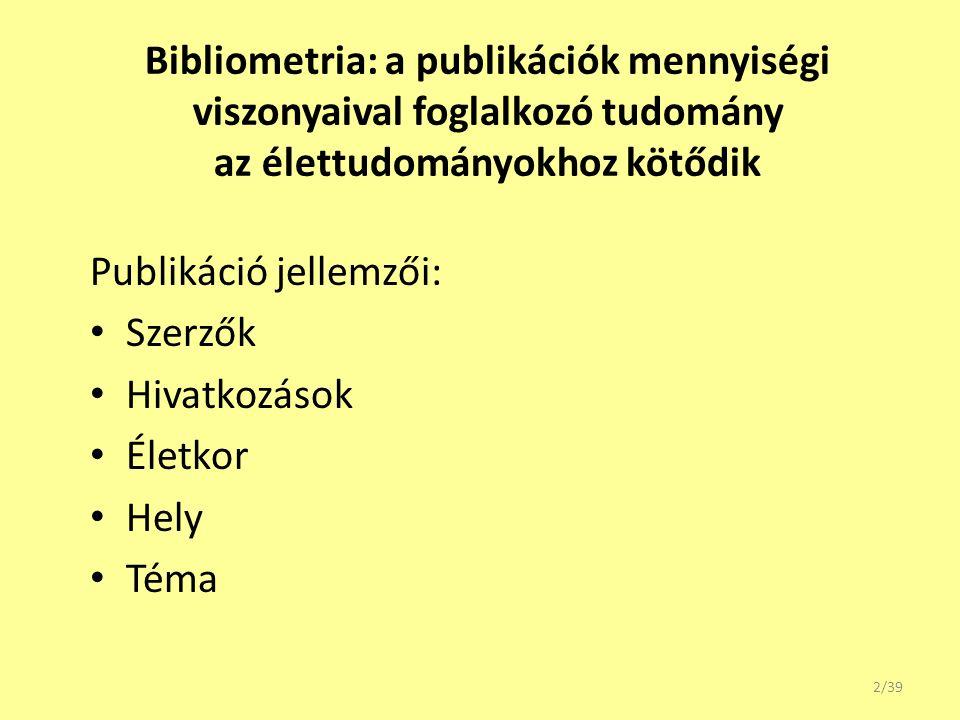 Variációk a h indexre 23/39