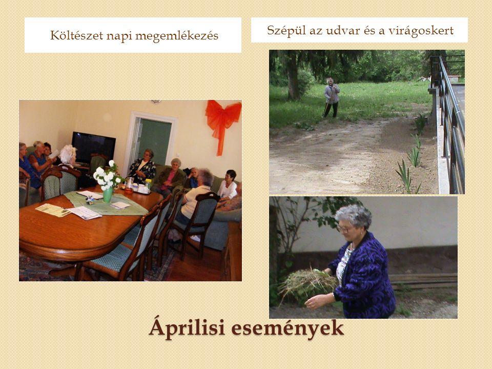 Áprilisi események Költészet napi megemlékezés Szépül az udvar és a virágoskert