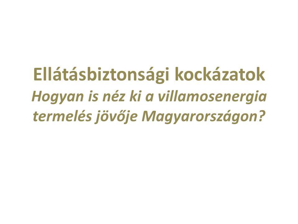Ellátásbiztonsági kockázatok Hogyan is néz ki a villamosenergia termelés jövője Magyarországon