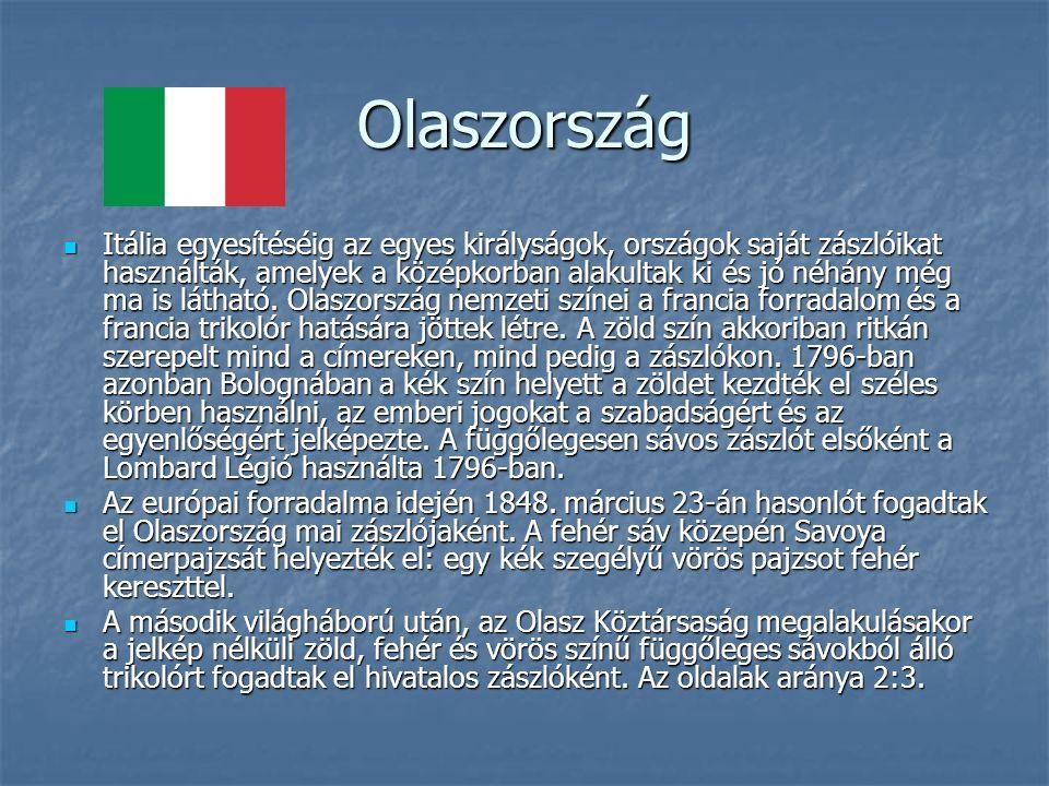 Olaszország Itália egyesítéséig az egyes királyságok, országok saját zászlóikat használták, amelyek a középkorban alakultak ki és jó néhány még ma is látható.