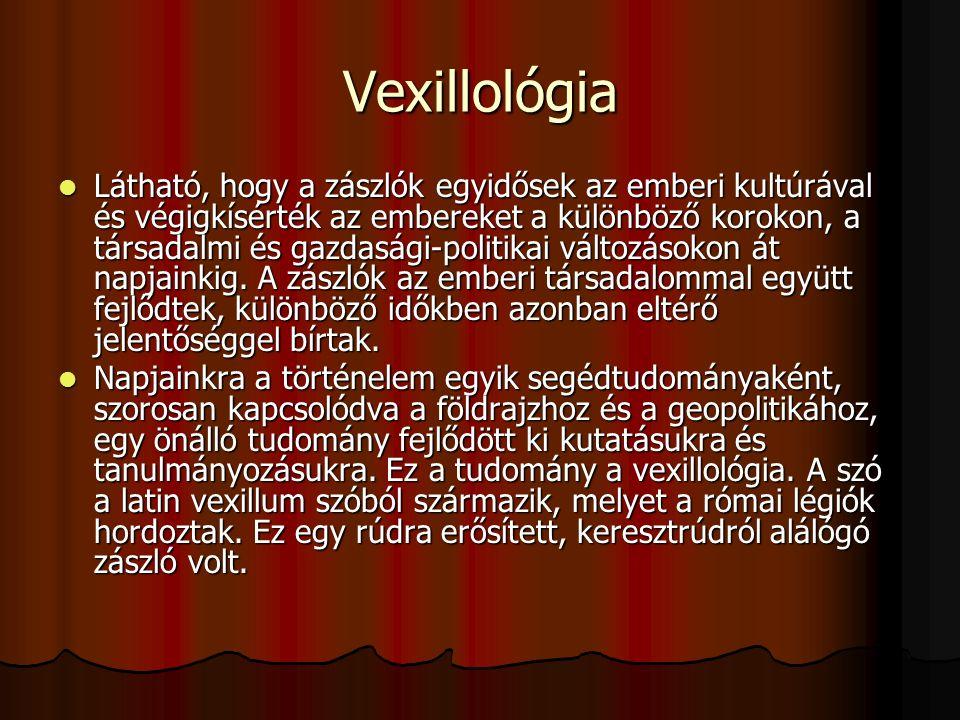 Vexillológiai sajátosságok Alapvetően kétféle zászló létezik.