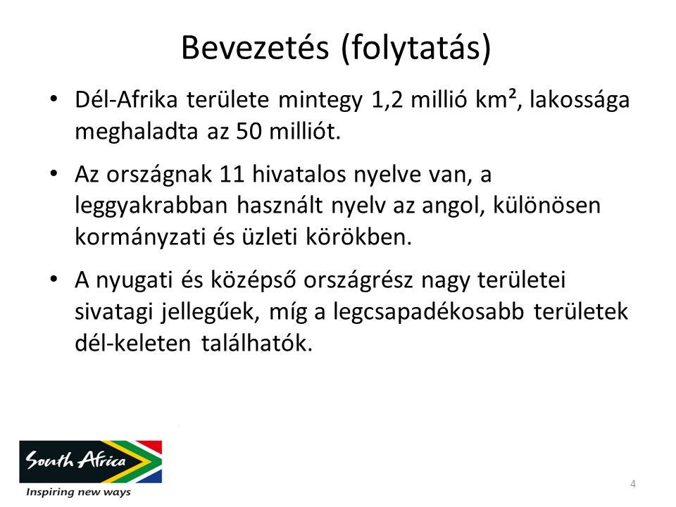 DÉL-AFRIKA A SADC-BEN (SADC) – egy 200 millió fős piacot létrehozó 2008- as szabadkereskedelmi egyezmény eredményeként Jövőbeni szabadkereskedelmi egyezmény: SADC, COMESA & EAC - 700 milliós piaccal 15