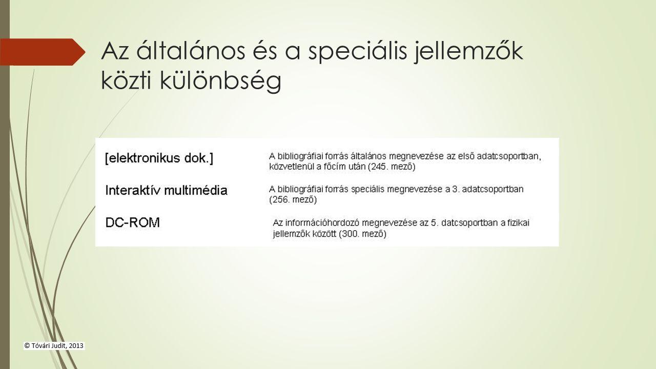 Az általános és a speciális jellemzők közti különbség
