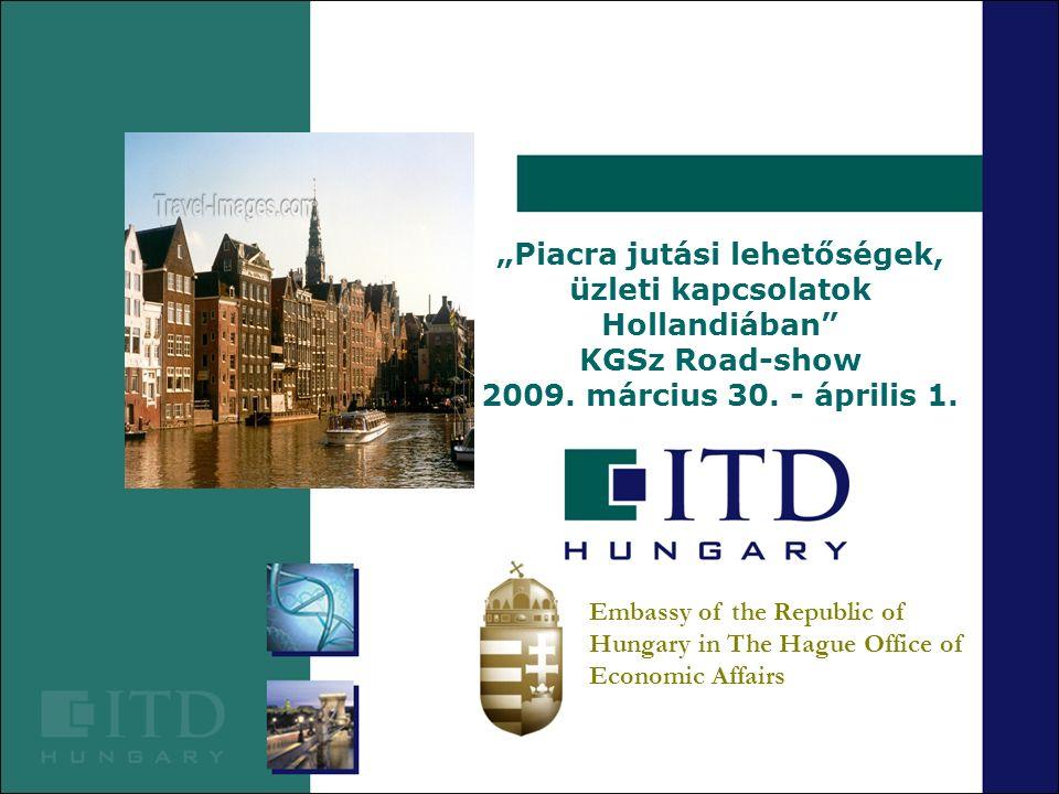 """""""Piacra jutási lehetőségek, üzleti kapcsolatok Hollandiában"""" KGSz Road-show 2009. március 30. - április 1."""