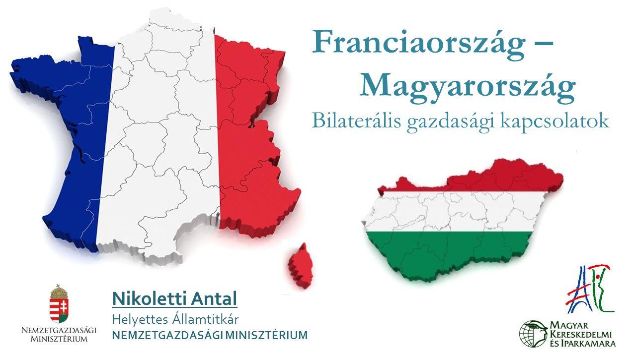 Franciaország – Magyarország Bilaterális gazdasági kapcsolatok Nikoletti Antal Helyettes Államtitkár NEMZETGAZDASÁGI MINISZTÉRIUM