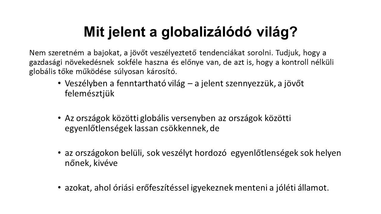 Mit jelent a globalizálódó világ.