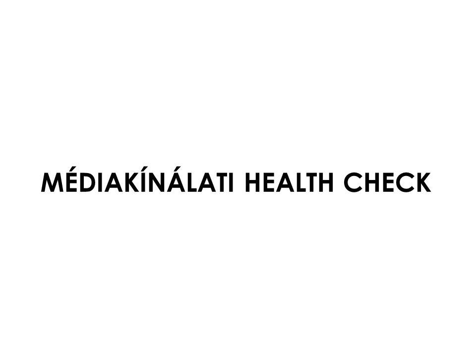 MÉDIAKÍNÁLATI HEALTH CHECK