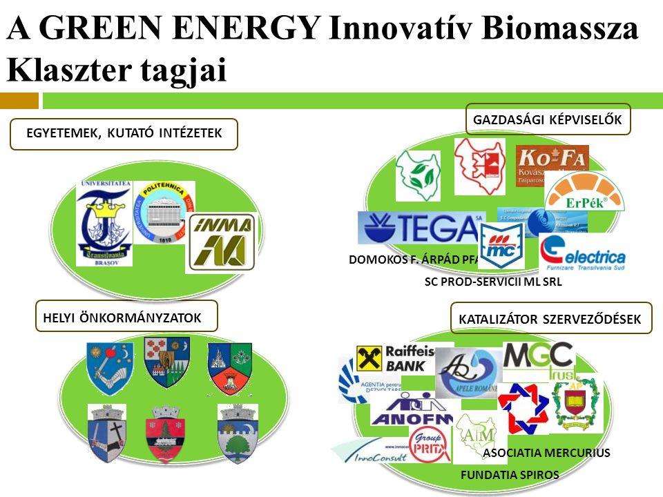 A GREEN ENERGY Innovatív Biomassza Klaszter tagjai GAZDASÁGI KÉPVISELŐK DOMOKOS F.