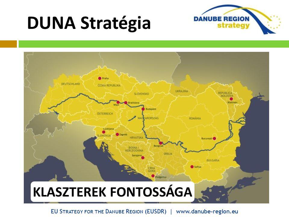 EU S TRATEGY FOR THE D ANUBE R EGION (EUSDR) | www.danube-region.eu DUNA Stratégia KLASZTEREK FONTOSSÁGA