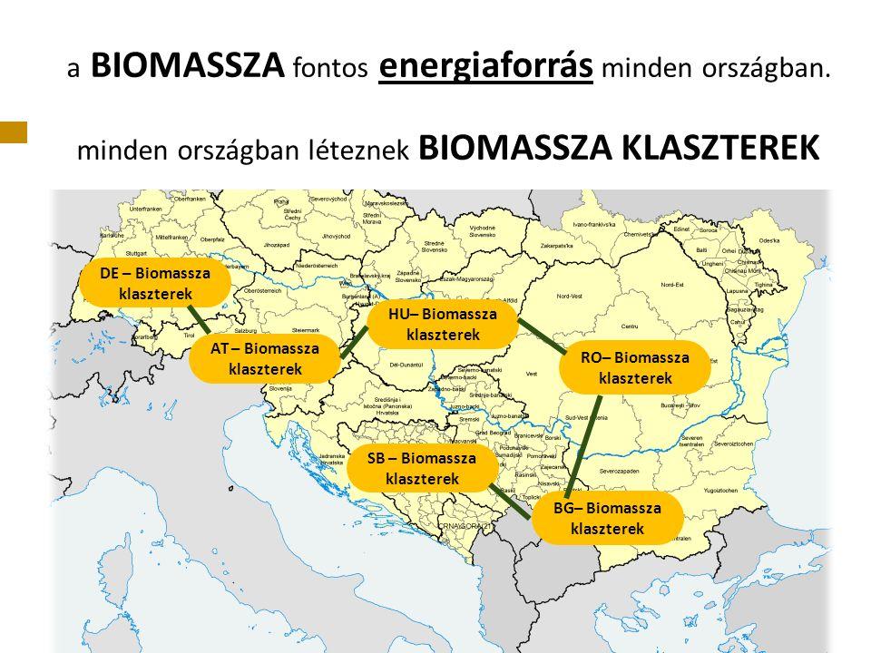 a BIOMASSZA fontos energiaforrás minden országban.