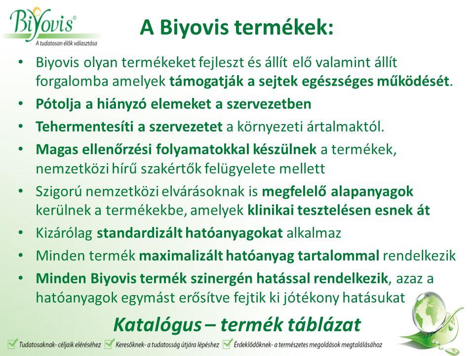 A Biyovis termékek: Biyovis olyan termékeket fejleszt és állít elő valamint állít forgalomba amelyek támogatják a sejtek egészséges működését.
