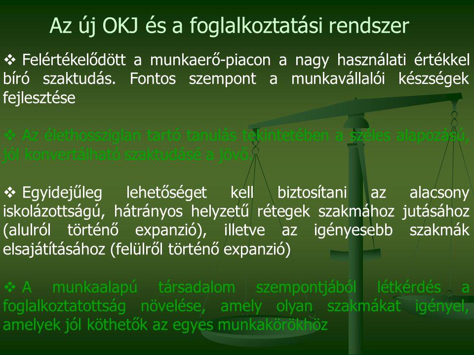 A korszerűsített OKJ és az átdolgozott szakképesítések 2011/2012.