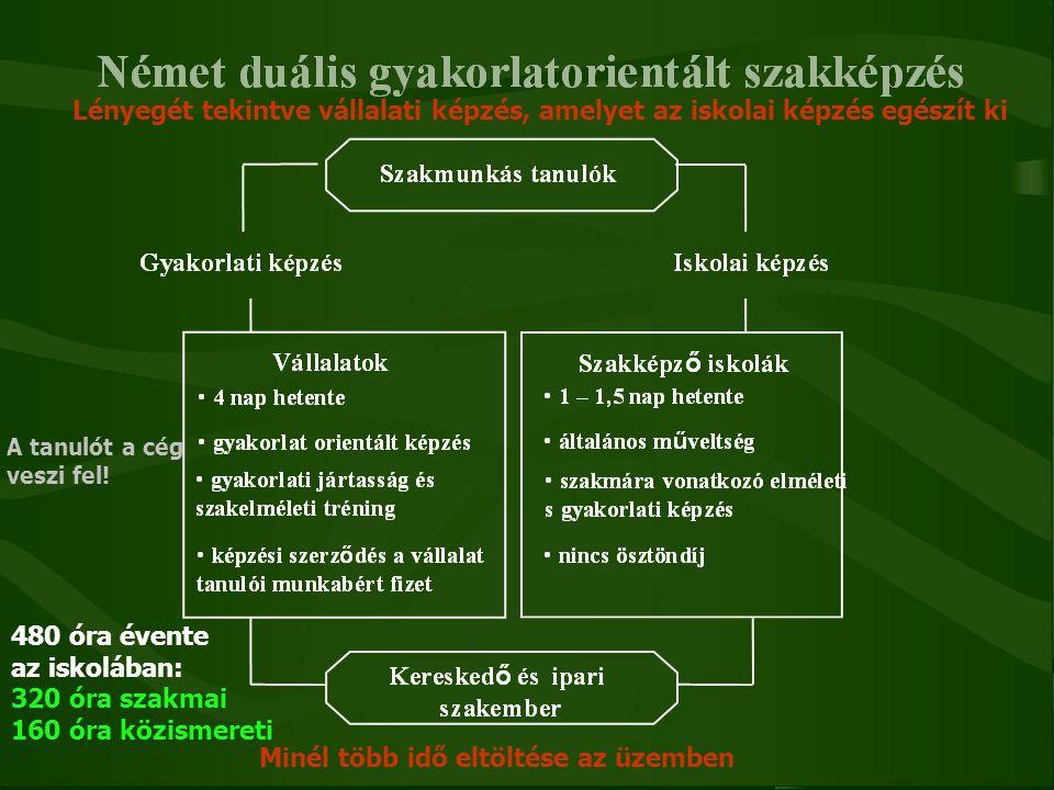 Képzési formák 2012.szeptembertől 2+2 képzési forma OKJ : 133/2011.(VII.