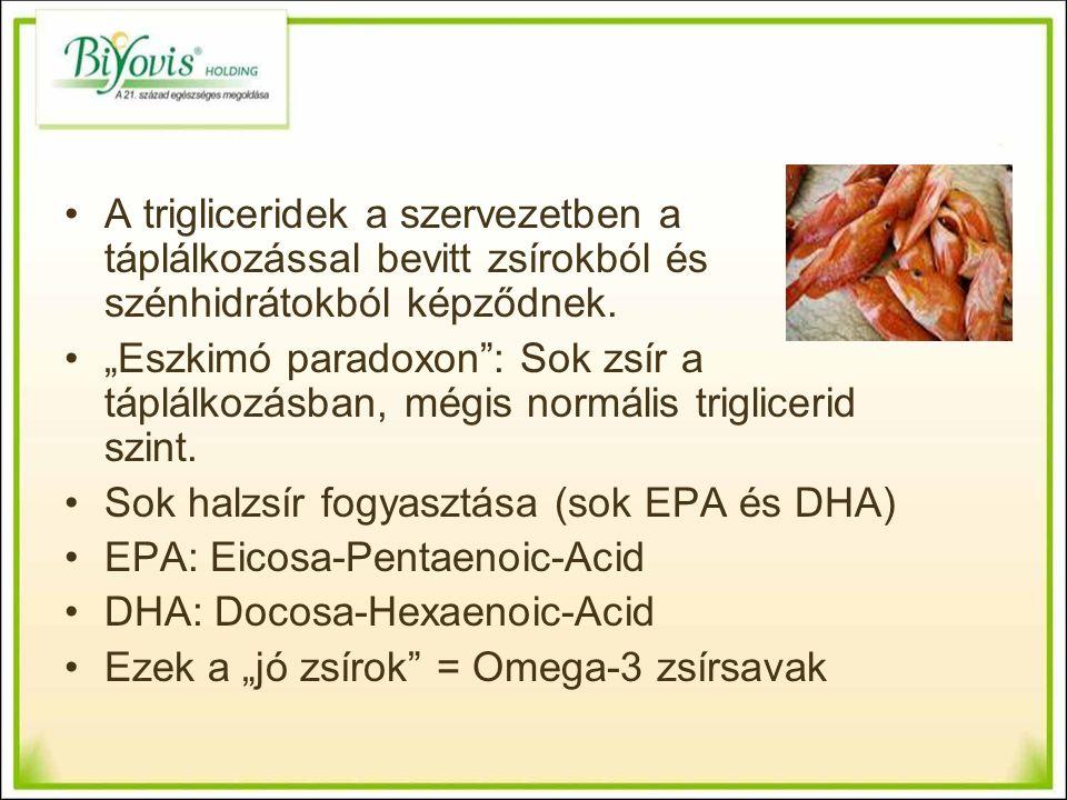 A trigliceridek a szervezetben a táplálkozással bevitt zsírokból és szénhidrátokból képződnek.