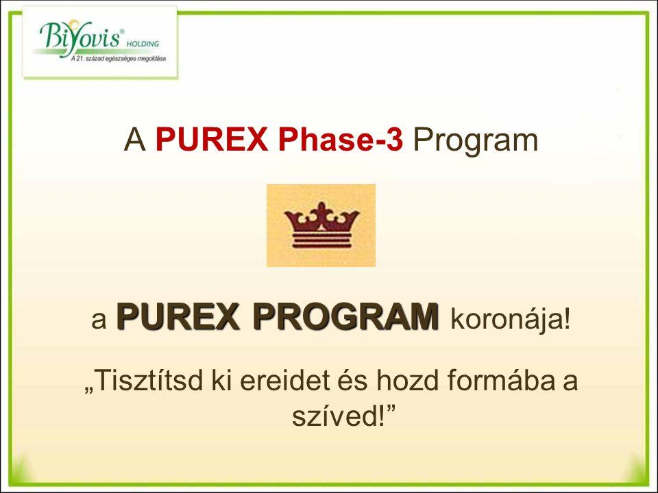 A PUREX Phase-3 Program PUREX PROGRAM a PUREX PROGRAM koronája.