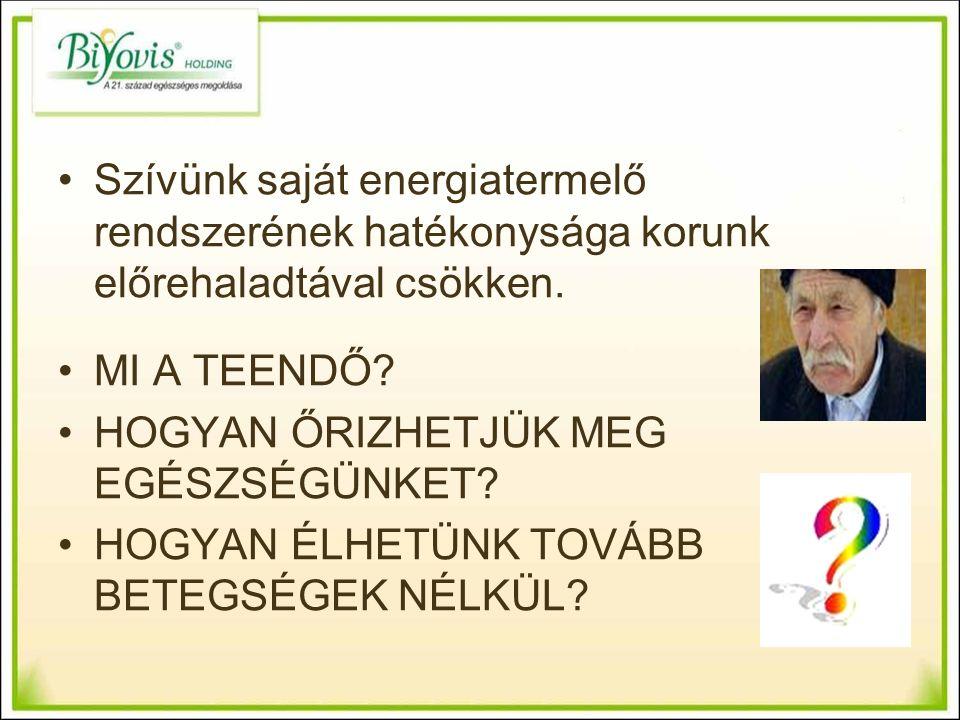 Szívünk saját energiatermelő rendszerének hatékonysága korunk előrehaladtával csökken.