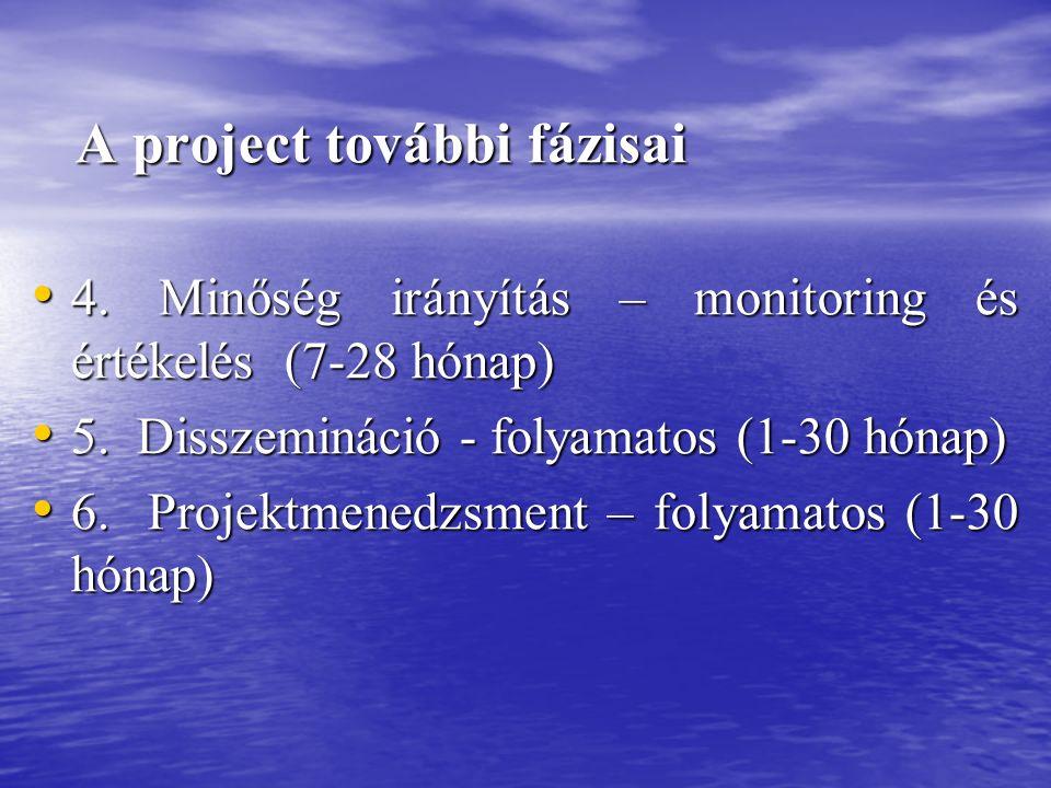 A project további fázisai A project további fázisai 4.