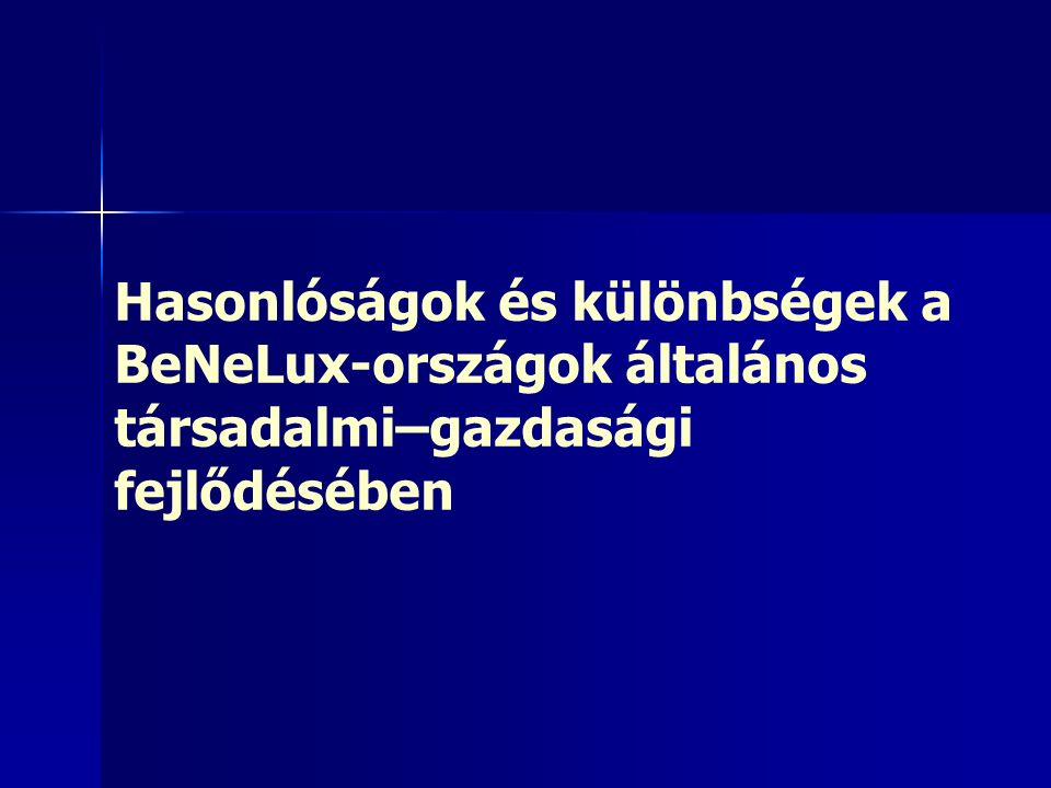 15Népesedés 1831: B: 3,8 mió, NL: 2,6 mió 1831: B: 3,8 mió, NL: 2,6 mió 1930: B = NL 1930: B = NL Ma: NL = 1,5 x B Ma: NL = 1,5 x B Belgium: alig gyarapszik Belgium: alig gyarapszik –Vendégmunkások (D-Eu-ból) már a XX.