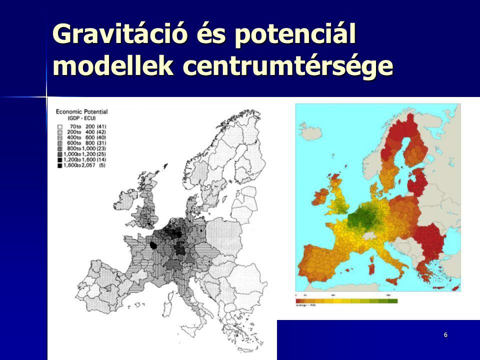 6 Gravitáció és potenciál modellek centrumtérsége