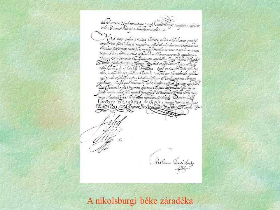 A nikolsburgi béke záradéka
