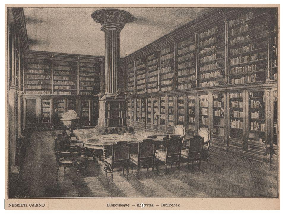 Az NC könyvtára a könyvtár főbb adományozói voltak:  gróf Dessewffy Aurél  Tasner Antal  Láng Ignácz  Weisz Bernát F.