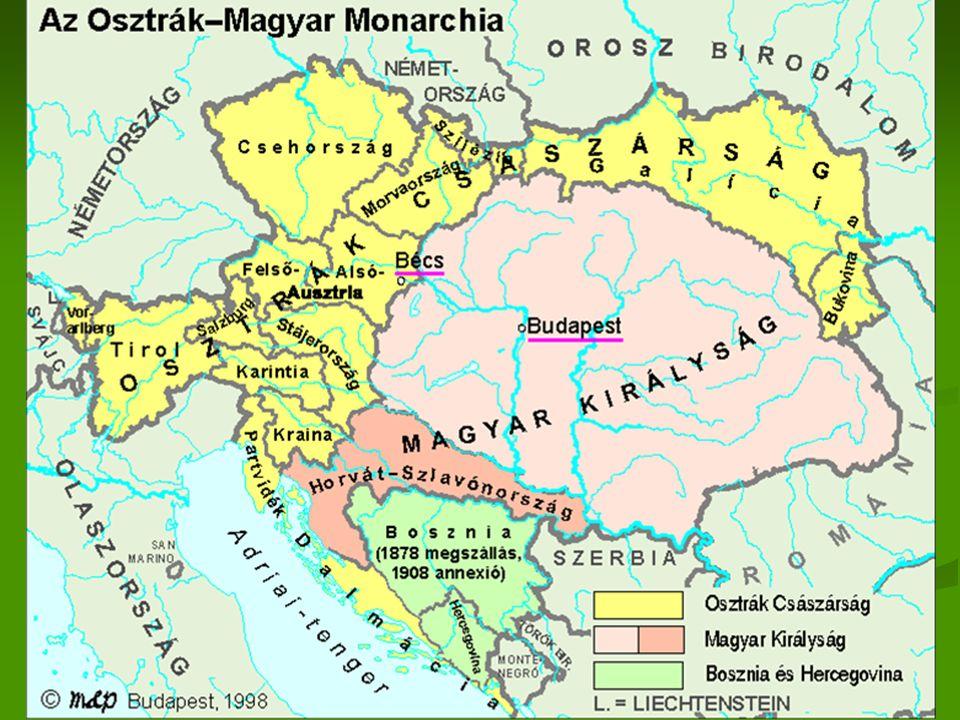 Mária Terézia 1754 kettős vámrendelet 1754 kettős vámrendelet Kaunitz Kaunitz 1850-ig áll fenn 1850-ig áll fenn Lényege: a birodalmat önellátóvá tenni Lényege: a birodalmat önellátóvá tenni Külső vámhatár Külső vámhatár A birodalmat zárta el a külső iparcikkektől A birodalmat zárta el a külső iparcikkektől Magas kiviteli vám és behozatali Magas kiviteli vám és behozatali Belső vámhatár Belső vámhatár Alacsony vám a mezőgazdasági cikkekre Alacsony vám a mezőgazdasági cikkekre Magas vám az ipari cikkekre kifelé, alacsony befelé Magas vám az ipari cikkekre kifelé, alacsony befelé