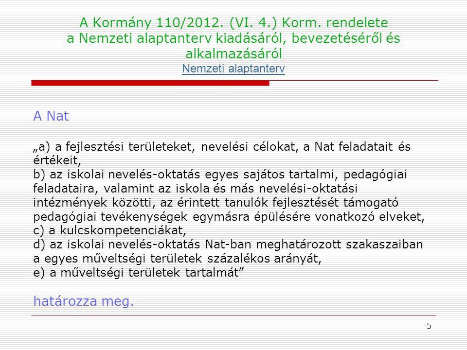 A Kormány 110/2012. (VI. 4.) Korm.