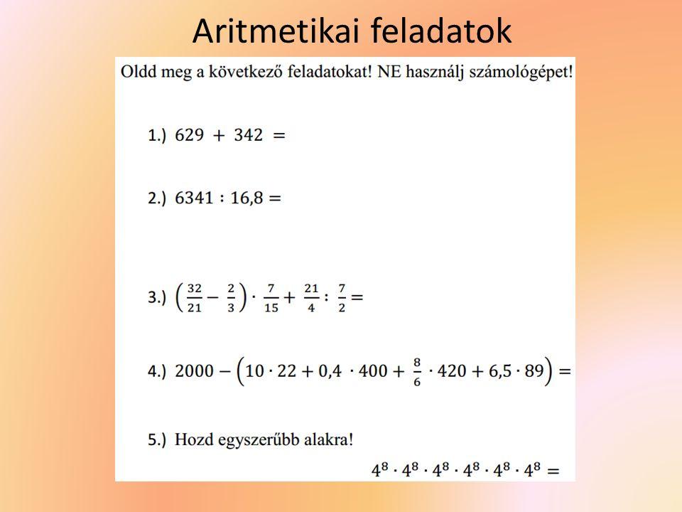 Aritmetikai feladatok