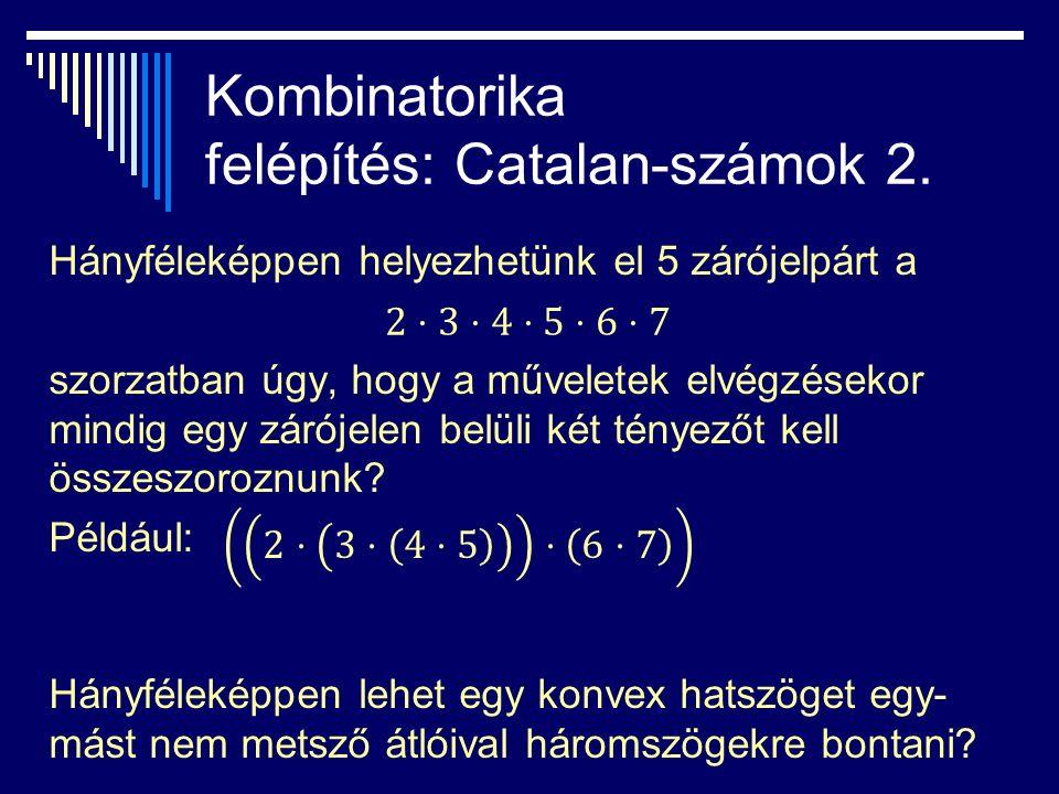 Kombinatorika felépítés: Catalan-számok 2.