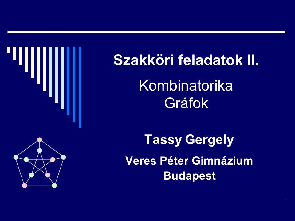 Szakköri feladatok II. Kombinatorika Gráfok Tassy Gergely Veres Péter Gimnázium Budapest