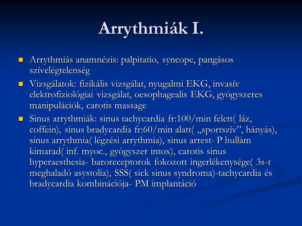 Arrythmiák I.