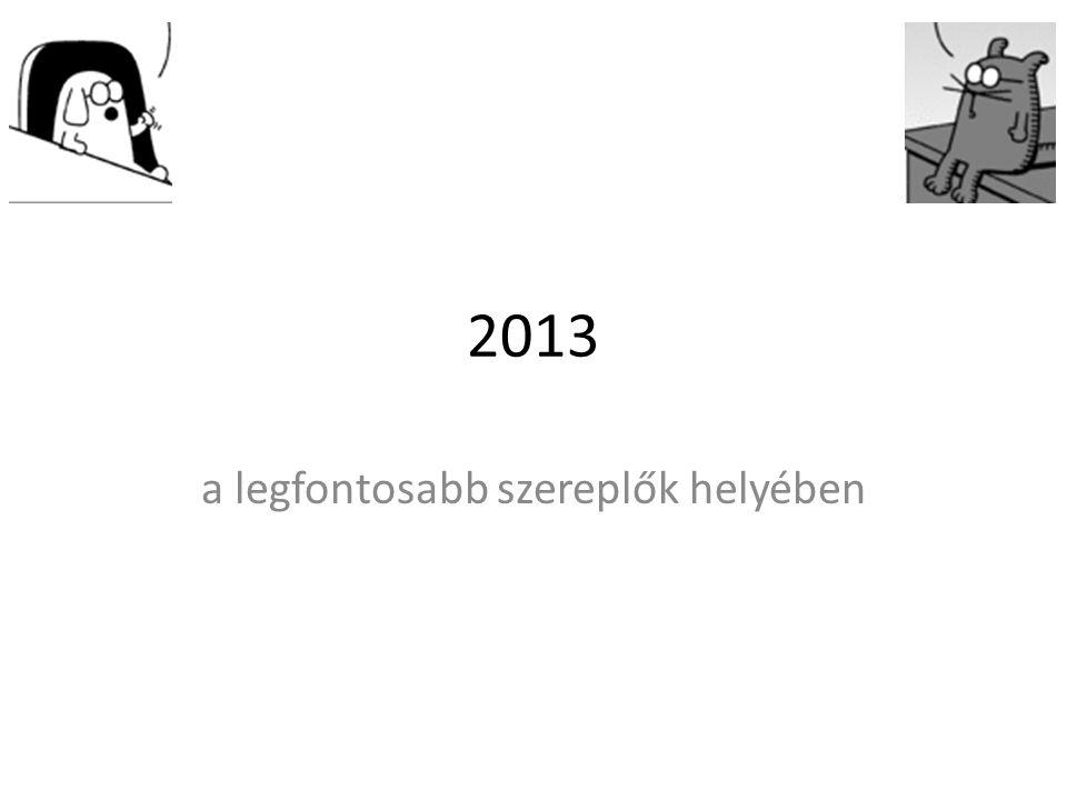 2013 a legfontosabb szereplők helyében