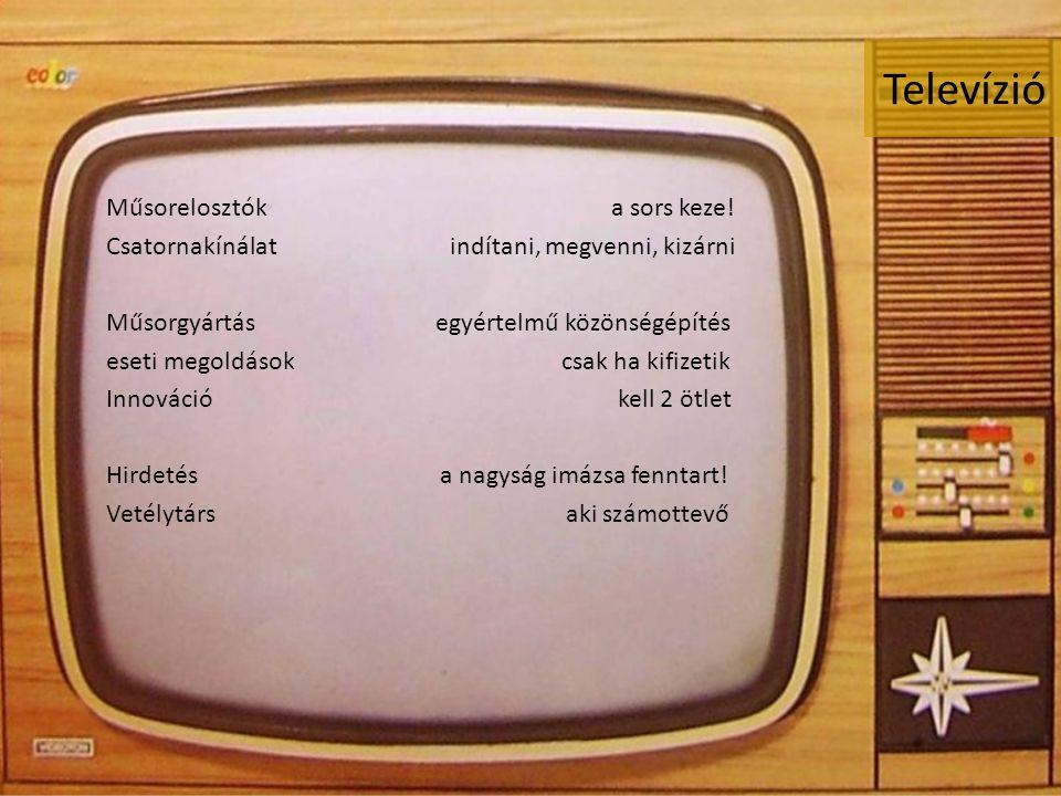 Televízió Műsorelosztók a sors keze.