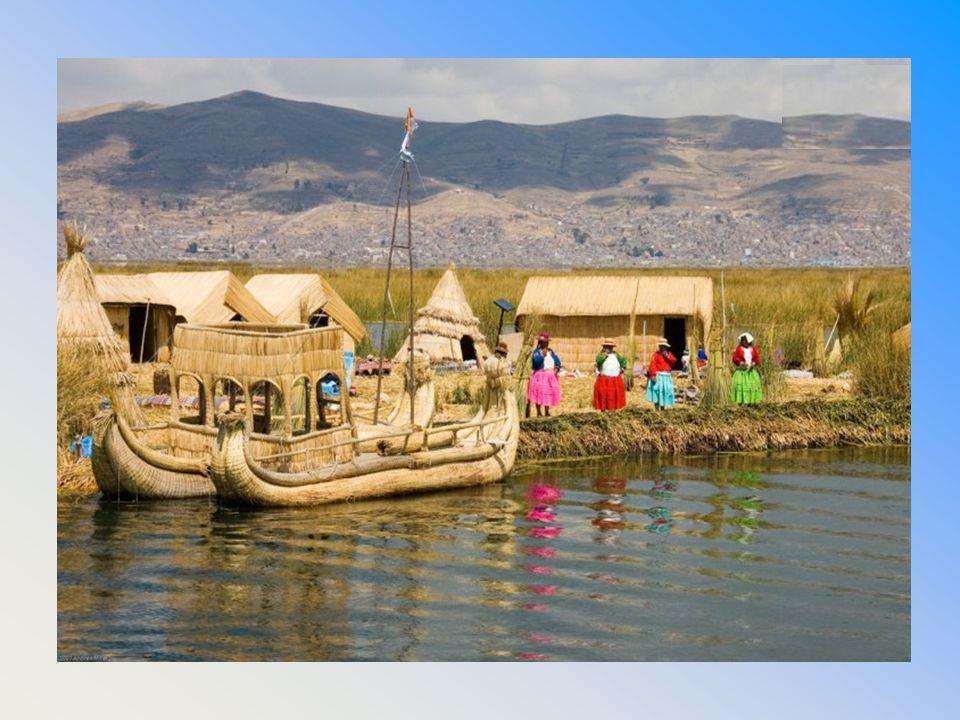 Nádsziget a Titicaca-tavon