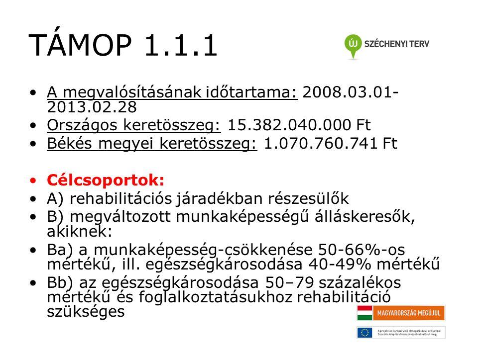 TÁMOP 1.1.1 Képzés típusok 4.