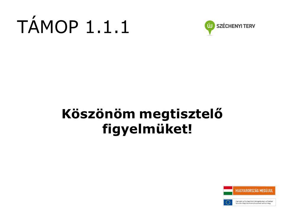TÁMOP 1.1.1 Köszönöm megtisztelő figyelmüket!